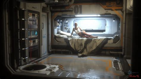 spaceship bedroom cyberpunk good evening by michaelg1234 maybe some