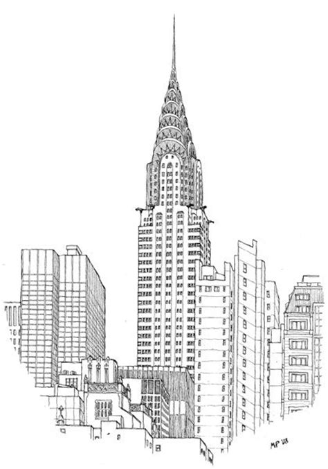 Chrysler Building Architectural Drawing The Chrysler Building By The Great Matteo Pericoli