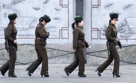 north korea north korean lady soldiers in heels business insider