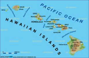 map of hawaiian islands united states map in the atlas