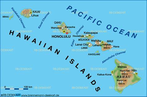 map usa hawaiian islands map of hawaiian islands united states map in the atlas