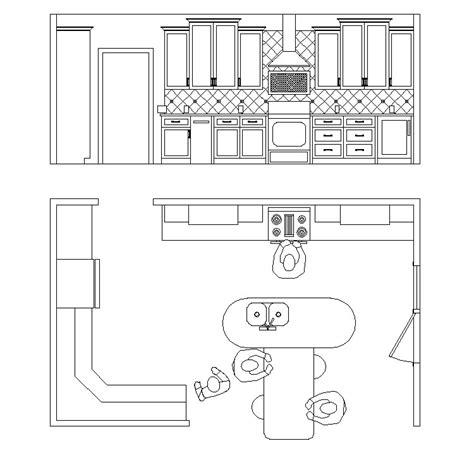 Kitchen Plan With Elevation Kitchen Portfolio Mmpmr