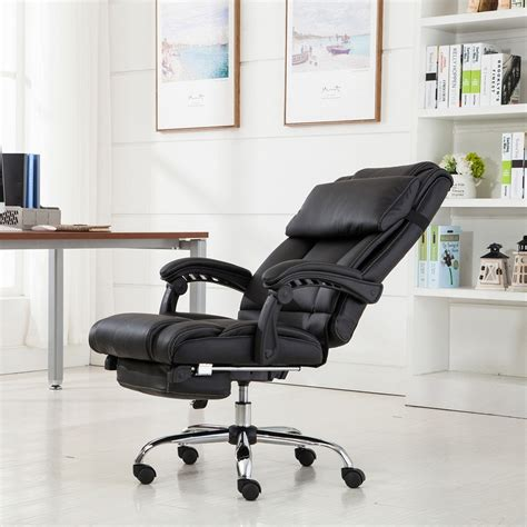 how to recline office chair belleze executive reclining office chair high back pu