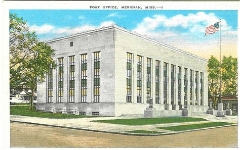 Post Office On Meridian by Post Office Photo Collection Post Collectors Club