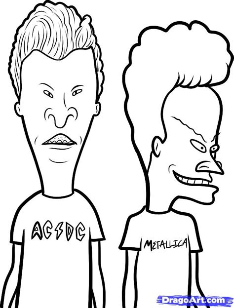 Beavis And Butthead Coloring Pages how to draw beavis and beavis and