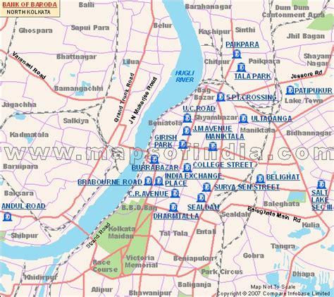 baroda map bank of baroda kolkata
