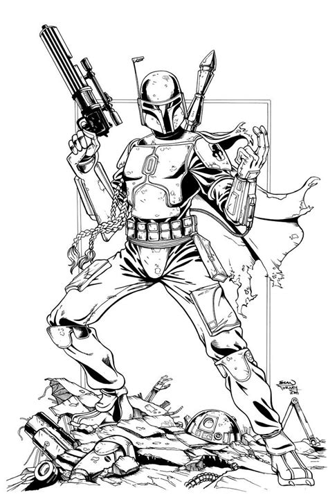 star wars jango fett coloring pages az coloring pages