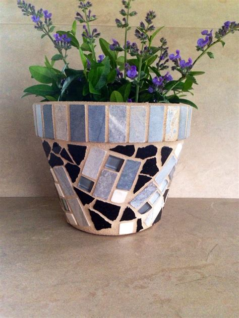 Mosaic Flower Pot Planter Outdoor Patio Pot Indoor Plant - mosaic planter rustic flower pot outdoor patio pot