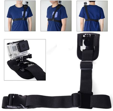 Goes For Black Accessories The Awards by Geeek Gopro Shoulder Harness Holder Geeektech