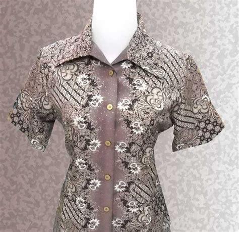 Kaos 3 4 Kimono King batik collections baju batik wanita lengan pendek