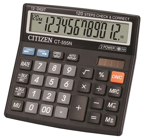 Ronbon Rb2618 Ii Kalkulator 12 Digit office calculator citizen ct 555n 12 digit 130x129mm