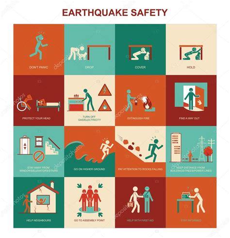 earthquake safety earthquake safety procedure stock vector 169 elenabs