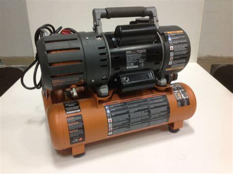 ridgid tri stack 5 gal portable electric steel orange air compressor used ebay