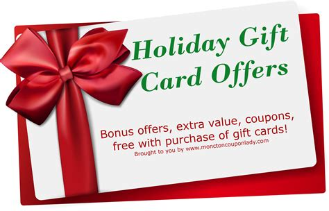 Holiday Gift Card Deals - gift card holiday offers