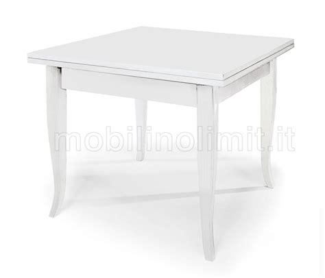 tavoli a libro tavolo allungabile a libro 90x90 bianco opaco