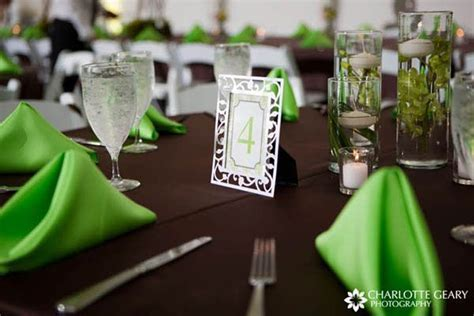 lime green and brown party decorations   Wedding Ideas