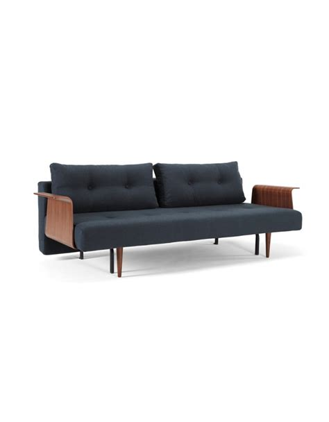 innovation sofa bed innovation recast sofa bed with arm rest choice soft or walnut arms