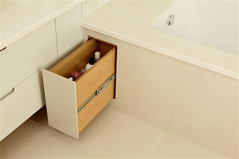 bathtub storage great bathroom storage ideas real homes