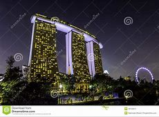 Marina Bay Sands Hotel And Singapore Flyer Stock Photo ... Ferris Wheel Vector Free Download