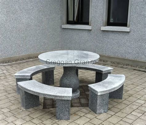 granite tables garden pieces creggan granite ireland creggan granite