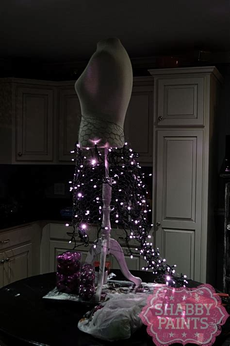 memory wire 4 12 ft christmas tree 46 fashion inspired trees made from dress forms style estate