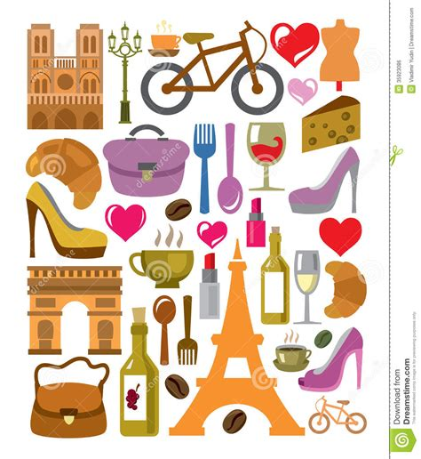 design franc art vector france icons set stock vector illustration of