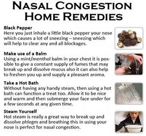 home remedies for congestion nasal congestion home remedies