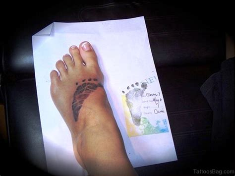 46 sweet baby footprint tattoo on foot