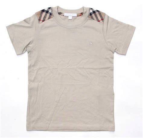 Patch Check Shirt By Famo new authentic burberry check shoulder patch boys t shirt beige size 12 years ebay