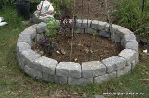 garden retaining blocks cinder block herb garden idea for put around