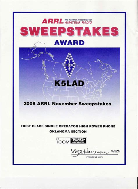 Sweepstakes Unlimited - k5lad awards