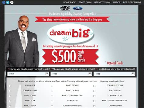 Steve Harvey Giveaway Today - the steve harvey morning show dream big holiday shopping sweepstakes sweepstakes