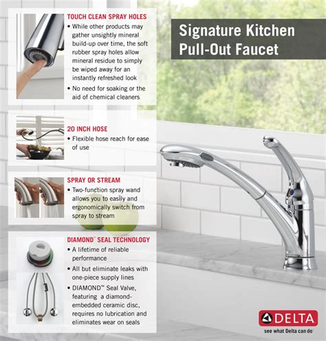 how to install delta kitchen faucet delta signature single handle pull out sprayer kitchen