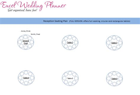 Download Wedding Planner Excel Workbook Wedding Planner Software In Excel Chandoo Org Seating Chart Template Excel