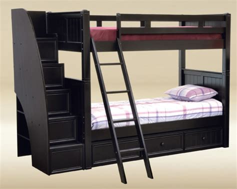 Black Bunk Bed With Stairs Traditional Bunk Beds Black Bunk Bed