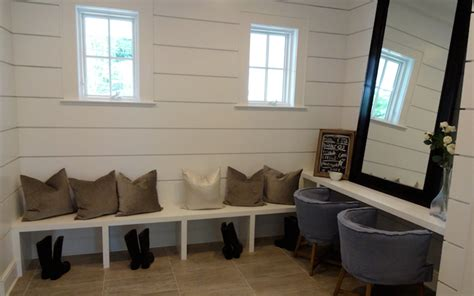 Black Dining Room Furniture Sets by Shiplap Mudroom Ideas Transitional Laundry Room