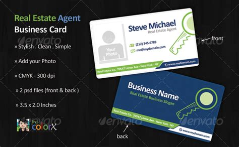 3 Stylish Real Estate Business Card Templates by Real Estate Business Card Template By Colorx