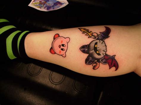 kirby and meta knight tattoo