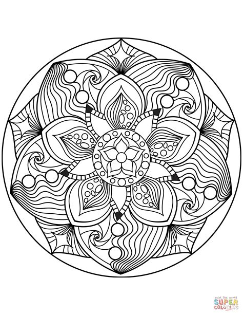 mandalas coloring pages flower mandala coloring page free printable coloring pages