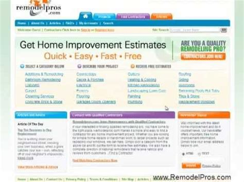 submit home improvement articles to remodelpros