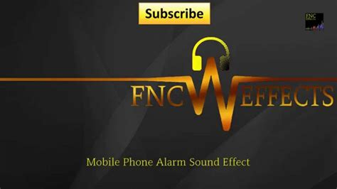 download youtube sound effects mobile phone alarm sound effect by fnc effects free