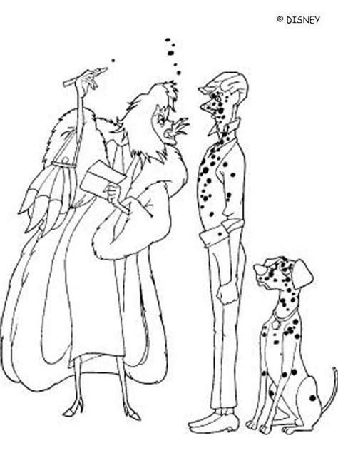 cruella 5 coloring pages hellokids com