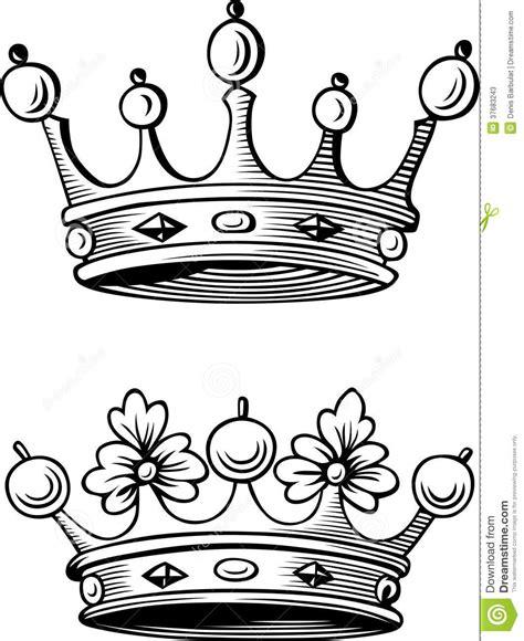 imagenes a blanco y negro de princesas coronas ilustraci 243 n del vector ilustraci 243 n de nobleza
