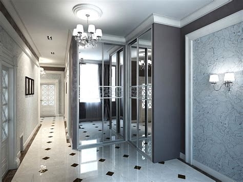 Hallway Closet Door Ideas modern spaces with mirrored closet doors