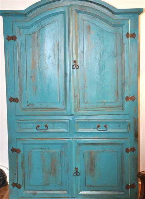 Painted Armoire Furniture by 25 Best Ideas About Turquoise Painted Furniture On