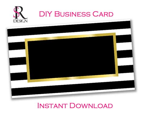 Diy Business Card Template Instant Download Diy Business Card Template