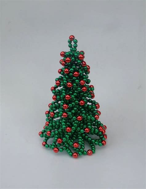 christmas tree table christmas tree beaded christmas tree