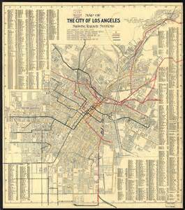 Los Angeles Transit Map by Transit History In Los Angeles A 1906 Map Of The City S