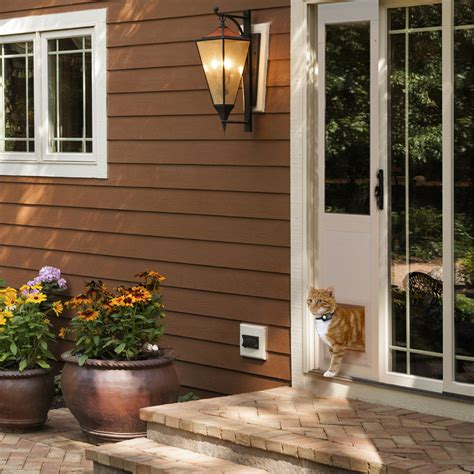 Patio Cat Door Power Pet Electronic Pet Door For Sliding Glass Patio Doors