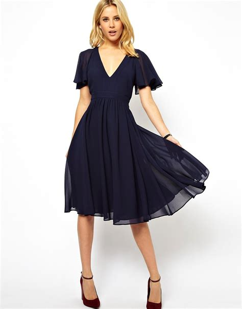 mid forties going out style mid forties going out style asos asos midi frill sleeve